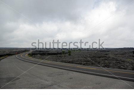 キラウェア火山のワインディングロード