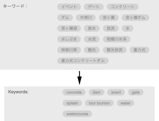 fotoliaのキーワードの翻訳結果