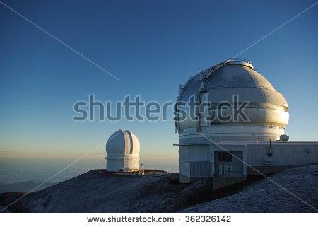 ハワイ島マウナケア山頂の天文台