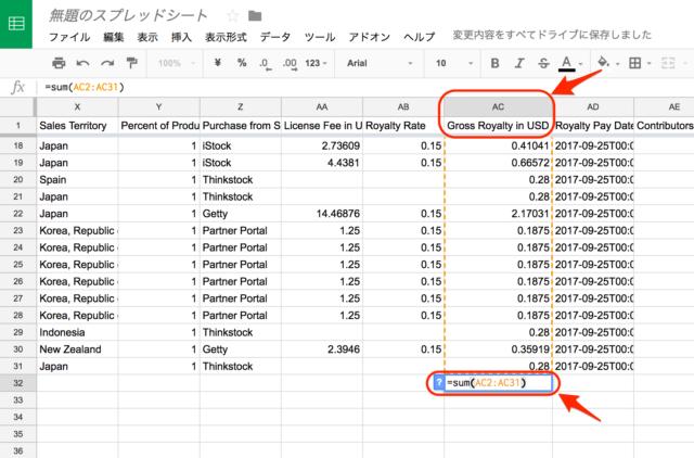 iStockの月の収入合計を計算する方法