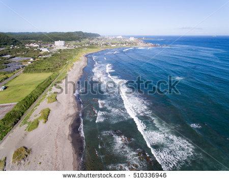 南房総の海(空撮写真)